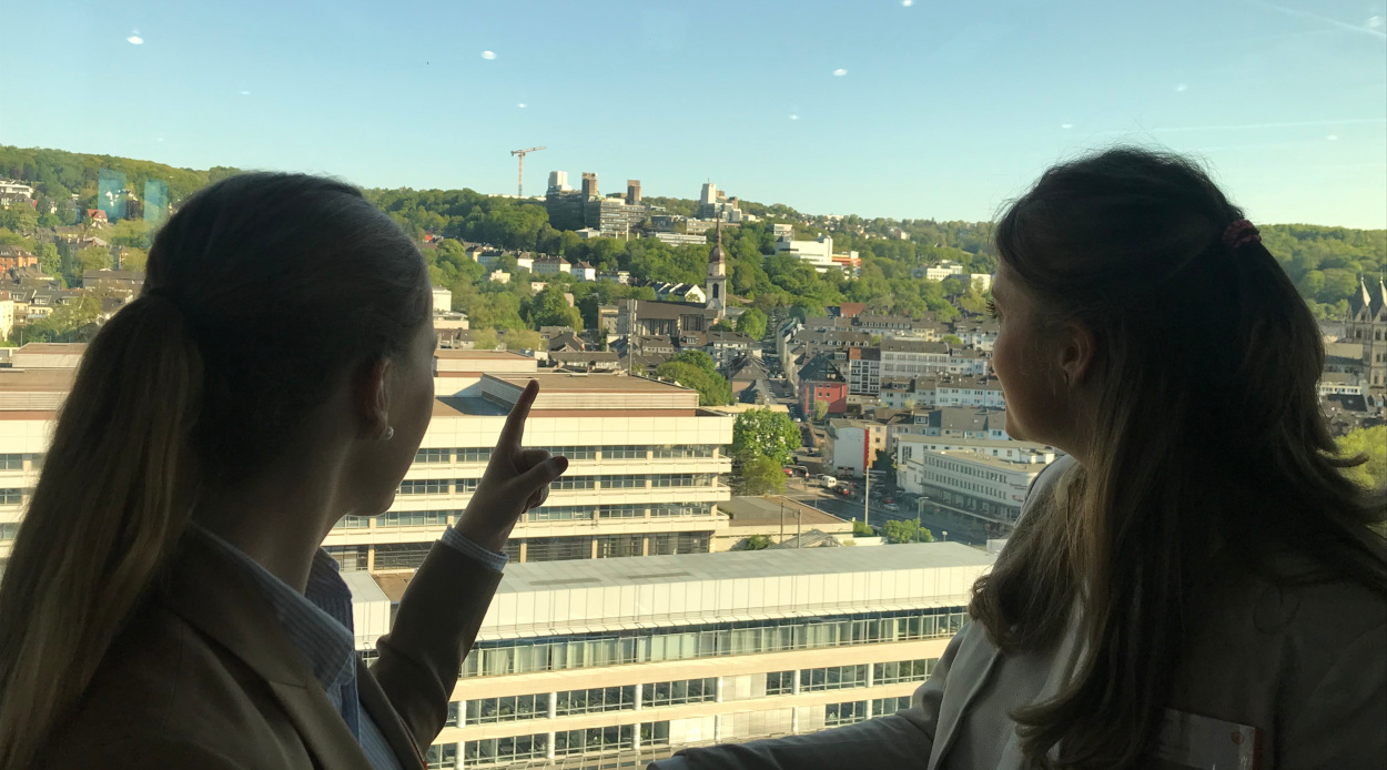 Practice meets Campus wit a great view of the University of Wuppertal